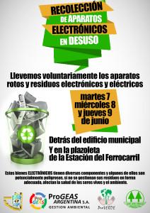 RECOLECCIÓN DE APARATOS ELECTRÓNICOS EN DESUSO