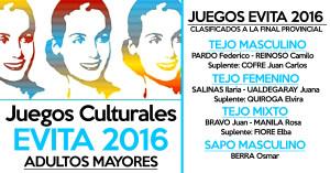 JUEGOS CULTURALES EVITA 2016 (ADULTOS MAYORES)  FINAL PROVIMCIAL